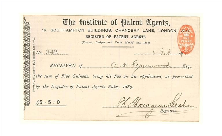CIPA Receipt of dues 1901