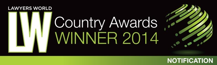 Lawyers World 2014 Country Award