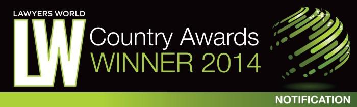 Lawyers World 2014 Country Award
