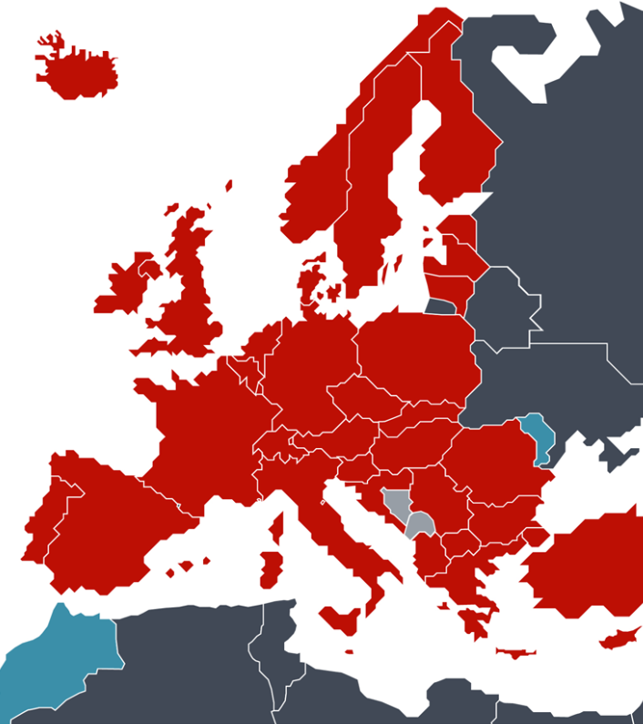 European Patent Convention states map