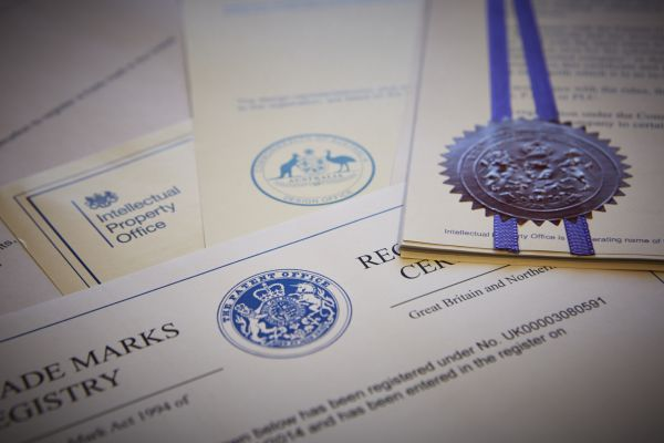 Trade mark and design certificates